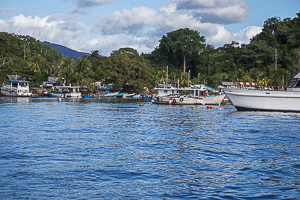 Alcan Fishing Village, at the east end of Chaguaramas Bay.